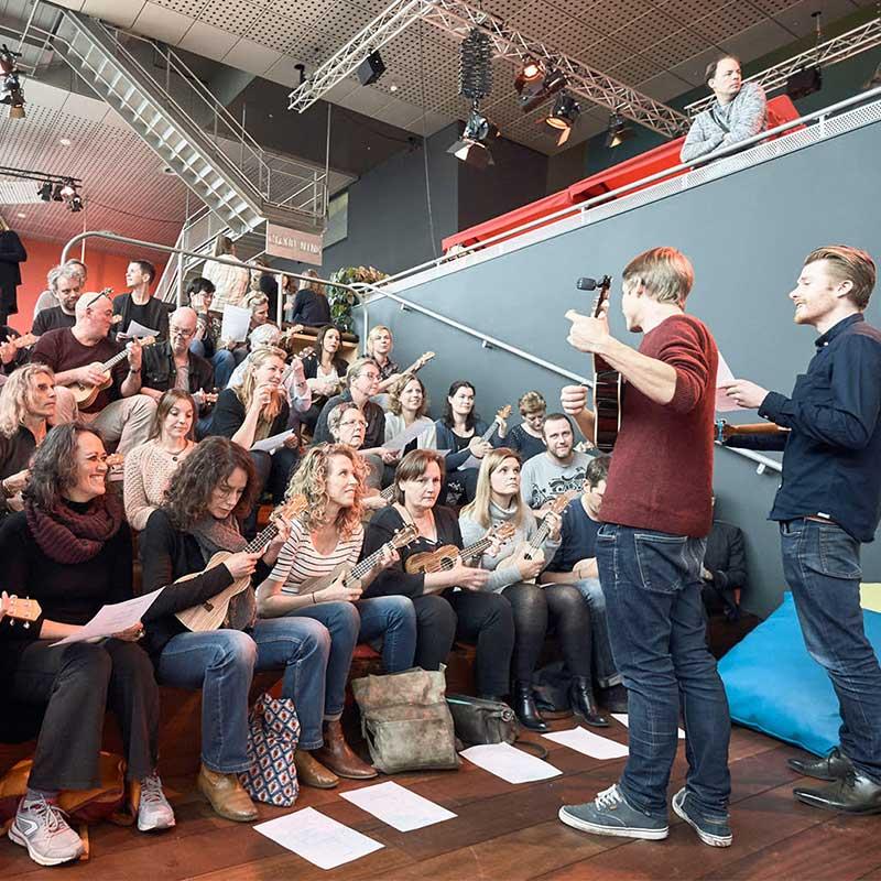 Ukelele workshop bij deMuziekFabriek in Utrecht